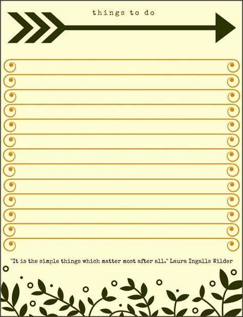 personal chores to do list template formal word templates