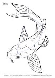 Two Koi Fish Outline by Learn How To Draw A Koi Fish Fishes Step By Step Drawing Tutorials