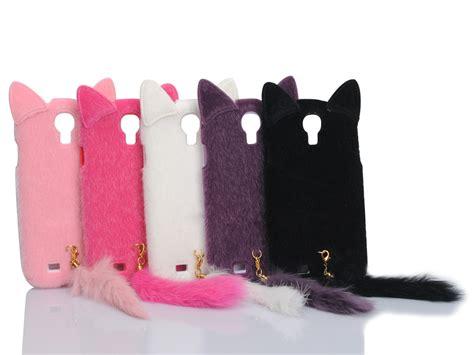Fluffy Phone Samsung Galaxy S4 Black 3d fluffy cat tpu cover skin for samsung