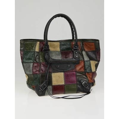 Balenciaga Patchwork - balenciaga multicolor patchwork leather small sunday tote