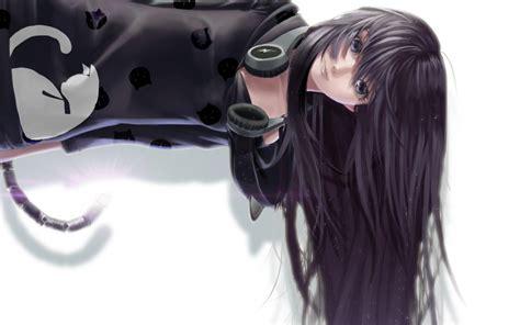 wallpaper girl headphones anime headphones wallpapers desktop phone tablet