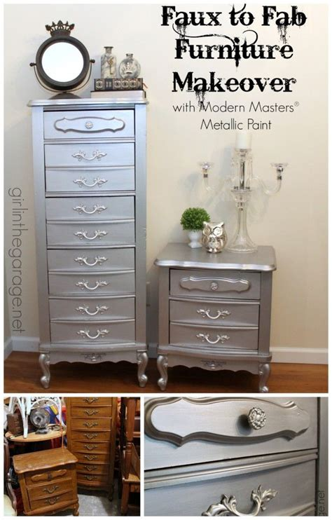 silver painted furniture bedroom 25 best ideas about metallic furniture on pinterest