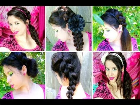hairstyles for summer school 7 easy braided hairstyles for summer school youtube