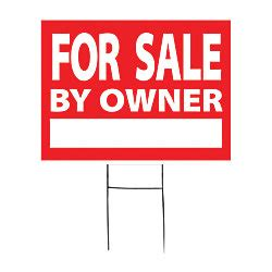 outdoor house sign for sale by owner 18 x 24 by office