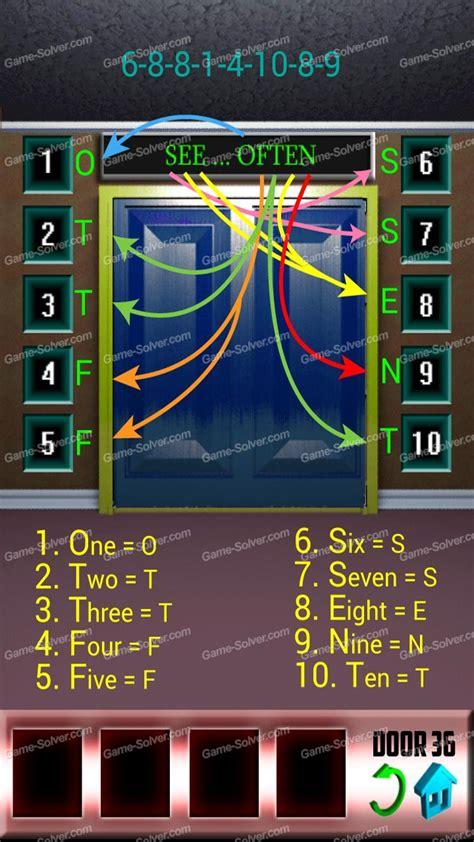 100doors lvl 4 100 doors level 36 game solver