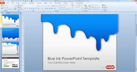 slide templates for powerpoint 2010 free blue ink powerpoint template