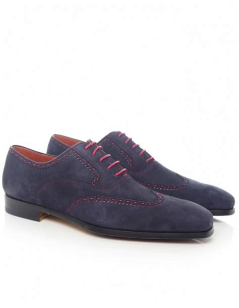 oxford shoes blue saks fifth avenue suede oxford shoes in blue for lyst