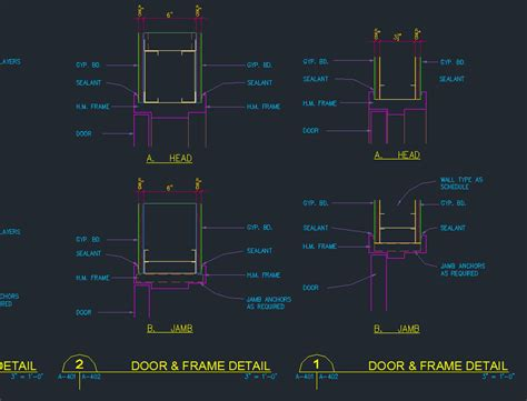 door jamb frame details cad files dwg files plans and details