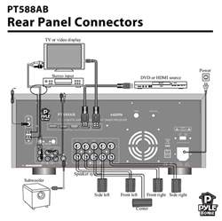 pylehome pt588ab home and office amplifiers receivers sound and recording amplifiers