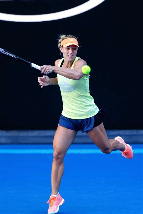 australian open 2018 angelique kerber practice session at the australian open