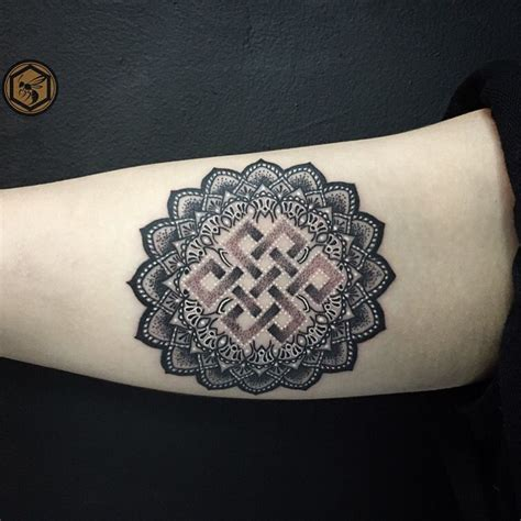 tattoo mandala instagram endless knot lotus flower mandala tattoo instagram