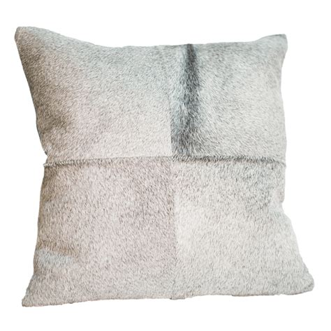 Gray Cowhide Gray Cowhide Pillow