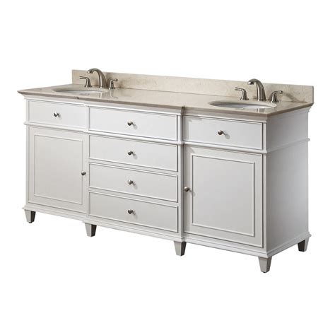 Vanities White by Avanity 36 Inches Bathroom Vanity In White Finish