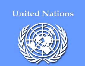 The un logo is a view of the world from which direction from the