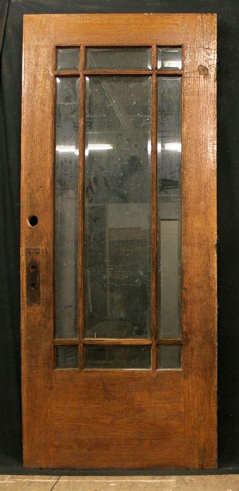 antique exterior entry white oak wood door
