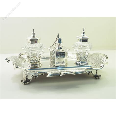 Silver Desk Set by Antiques Atlas Superb Sterling Silver Desk Set By Barnard