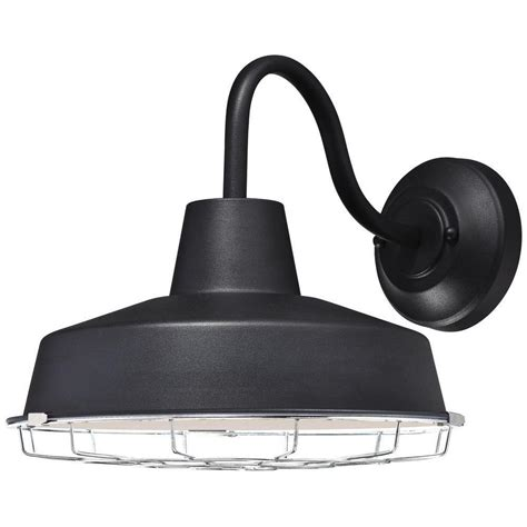home depot barn light westinghouse academy 1 light textured black outdoor