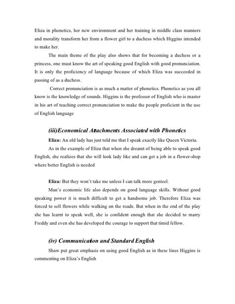 theme of education in pygmalion pygmalion