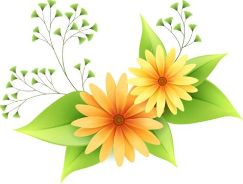 Beautiful small flowers vector material  1 ? Over millions