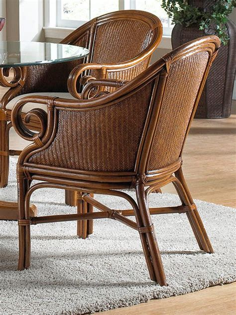 Rattan Indoor Chair by Palm Indoor Rattan Wicker Club Chair