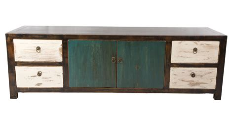 Low Wide Chest Of Drawers White by Distressed Low Chest Of Drawers Teal White By Home Elements