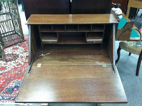 antique drop front desk for sale gorgeous antique oak drop front desk on pedestal legs