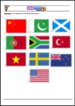 Flags Of The World Quiz Questions | world flags 4 picture quiz themed pub quiz and world flags