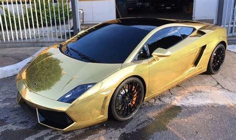 Lamborghini Gallardo Bicolor Gold Chrome Wrap   Wrapfolio