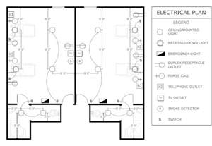electrical plan patient room electrical plan floor plans pinterest