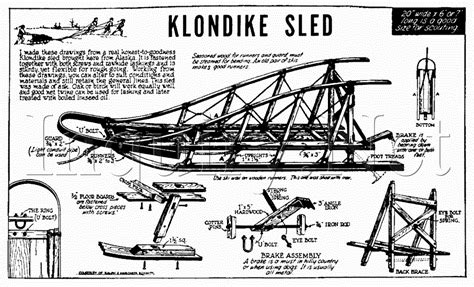 home designer pro sle plans ben hunt s klondike sled plans
