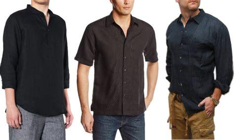 Bathroom Storage mens black linen shirt choozone