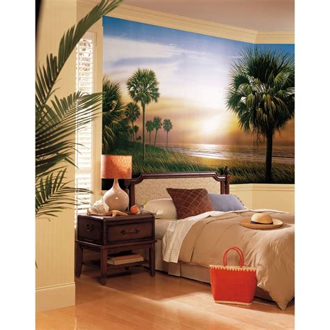 palm tree wall mural palm trees wall mural sunset wallpaper accent decor