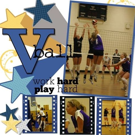 scrapbook layout ideas for volleyball volleyball scrapbook page ideas bing images scrapbook
