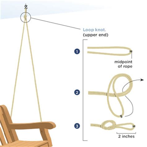 hanging a porch swing with rope rope knots upper end how to build and hang a porch