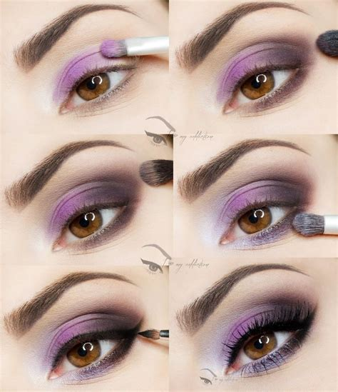 tutorial makeup eyes purple eyeshadow makeup look mugeek vidalondon