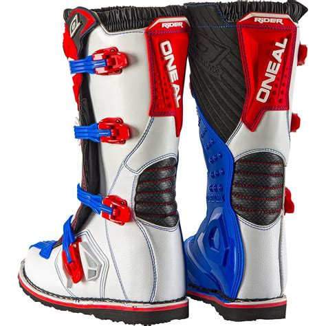 red motorbike boots oneal rider eu motocross boots mx off road dirt bike atv