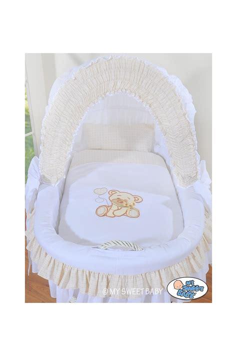 culle neonato culla neonato vimini orsacchiotto bianco