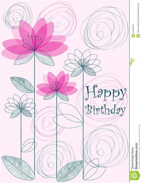 happy birthday simple design happy birthday background stock illustration image 50730341