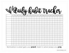 printable daily habit tracker alicia michelle xo