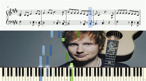 keyboard tutorial ed sheeran ed sheeran what do i know piano tutorial sheets