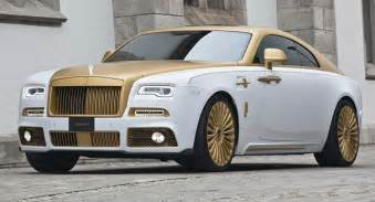 Gold Rolls Royce Mansory S Rolls Royce Wraith Palm Edition 999 Is Garnished