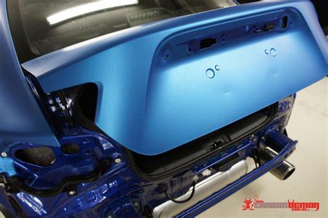 subaru brz matte blue subaru australia show car brz vinyl wrapped by carbon demon