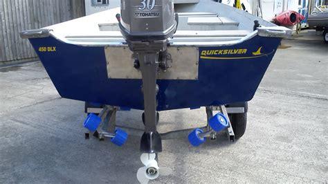 quicsilver tekne quicksilver 450 dlx aluminium boat with 30hp tohatsu for