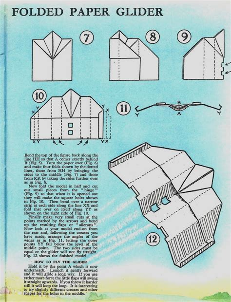 How To Make Glider Paper Airplanes - how to fold a paper airplane glider images