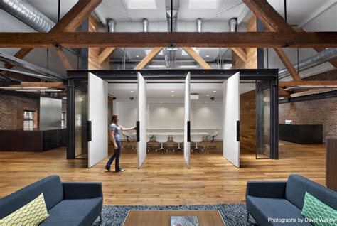 modern warehouse interior design and rustic interior of a creative agency interiorzine