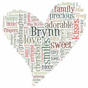 website to create your own word cloud art wedding day