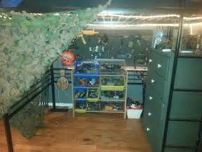 loft bed army theme boys room gun