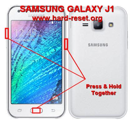 reset samsung j1 how to easily master format samsung galaxy j1 sm j100f sm