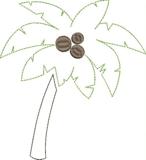palm tree applique