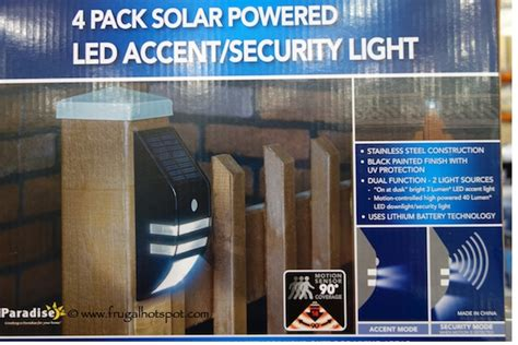 paradise solar lights costco costco sale paradise 4 pack solar powered led accent